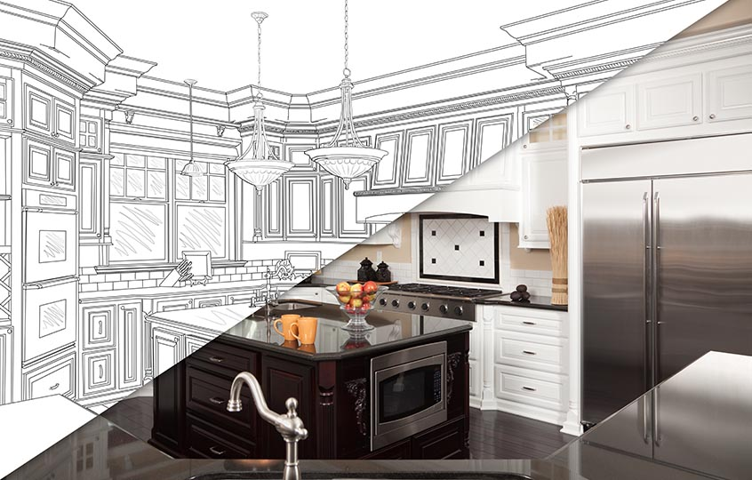 kitchen remodeling drawing