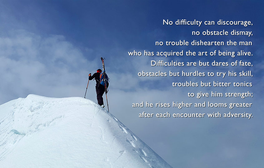 No difficulty can discourage